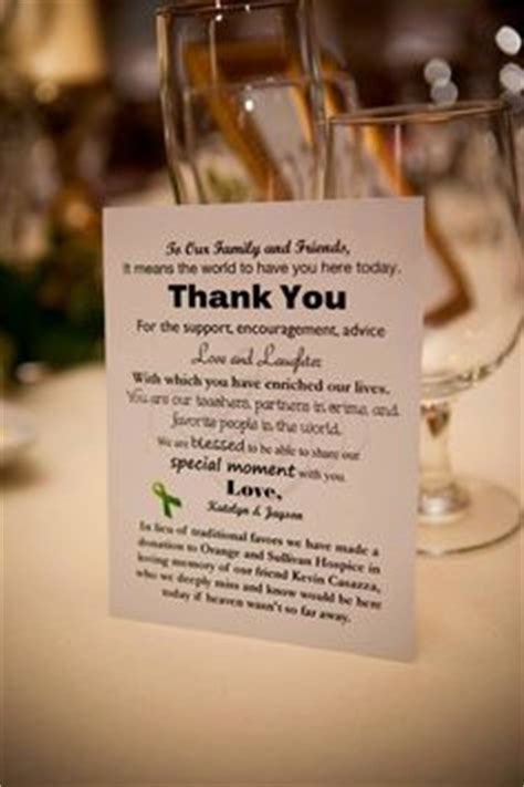 Thank You Note For Donation In Lieu Of Flowers 1000 Ideas About Donation Wedding Favors On Wedding Favours Wedding Favors And Favors