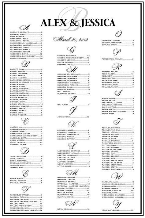 wedding seating chart poster template blackandwhitewedding wedding seating chart seating