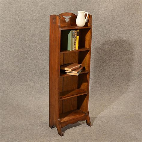 bookcase display arts and crafts oak c1900 antiques atlas antique bookcase book stand narrow arts crafts solid