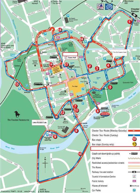 map uk chester city sightseeing chester hop on hop tour