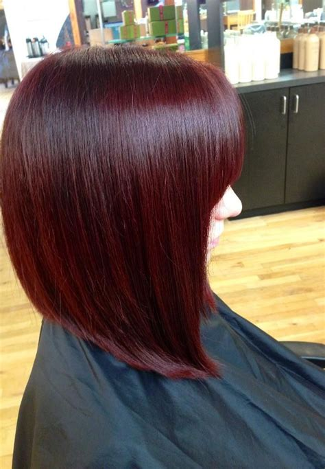 burgundy bob hairstyles burgundy red inverted bob long bob haircut aveda