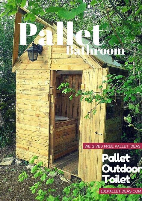 outdoor bathroom ideas diy pallet outdoor toilet pallet bathroom 101 pallet ideas