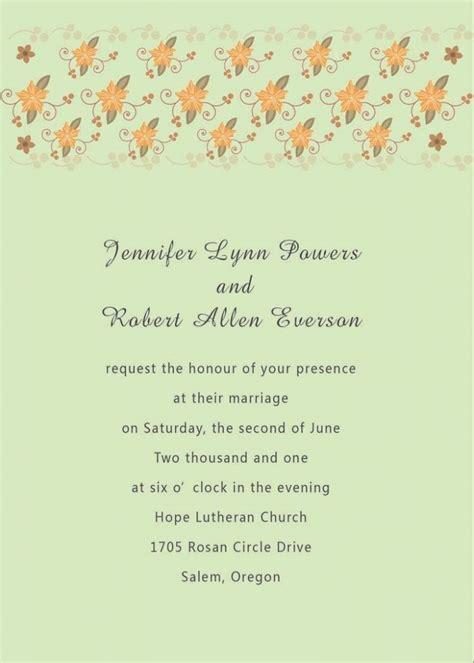 Wedding Invitation Wording In Language