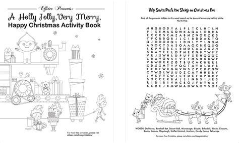 printable christmas activity book free printable christmas activity packet holiday