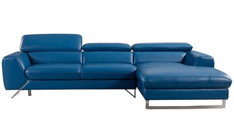 Divani Casa Drancy Modern Blue Smileydot Us Modern Blue Sofa
