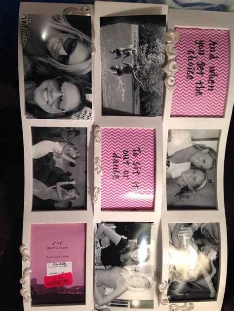 best photo gifts diy picture frame collage graduation gift to my best