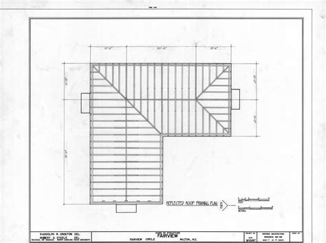 floor framing plan roof framing plan asa thomas house milton north carolina