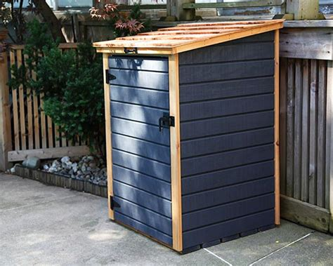 Bin Sheds by Compact Storage Shed For Garbage Bins Recycling Bins