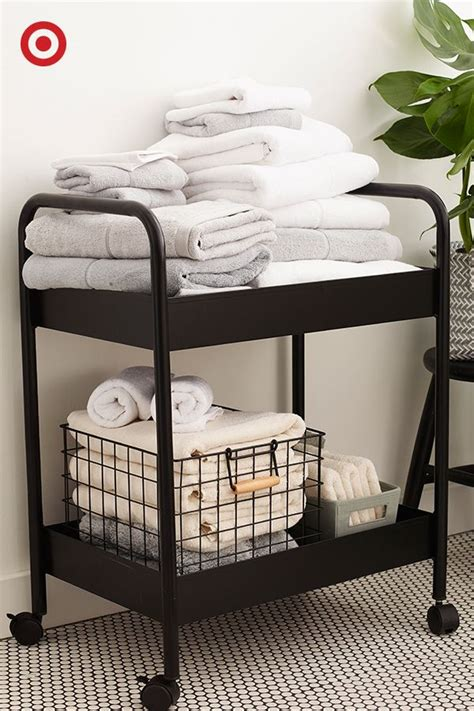 Ever Thought Of Putting A Bar Cart In The Bathroom It S Bathroom Storage Carts