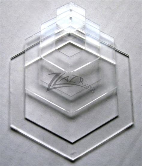 hexagon quilt template plastic template nested 4 quot x 1 8 quot hexagon acrylic plastic stencil