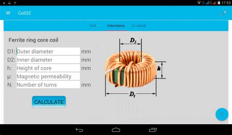 air toroid inductor calculator coil32 determine toroid permeability 28 images coil32 the coil inductance calculator coil32