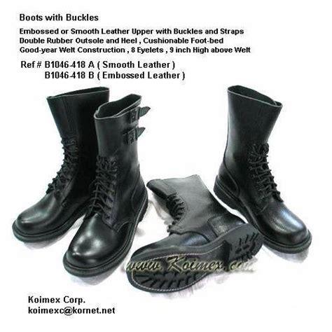 Boots Korea 3 ranger militaire avec boucles