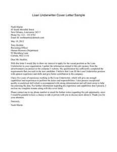 Underwriter Cover Letter by Cover Letter Mortgage Underwriter Position