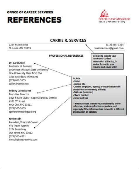 Resume Reference Format by 63 Resume Formats Pdf Doc Free Premium Templates