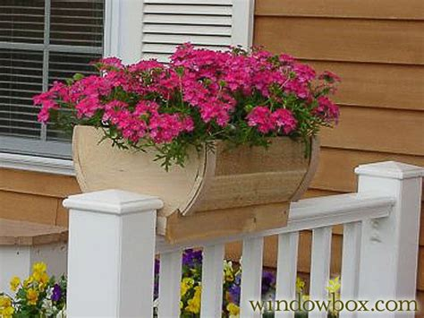 deck rail planter boxes 14in rounded cedar deck rail planter half barrel design wooden window boxes window boxes