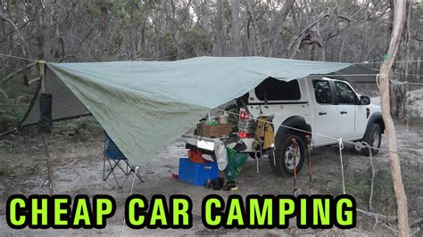 cheap awnings for cers cheap diy car cing setup 4wd csite youtube