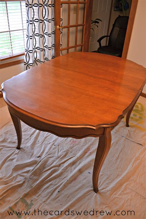 Chalk Paint Dining Room Table Upcycle Adventure   The