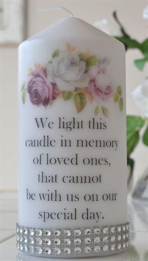 memorial wedding large candle flowerless wedding