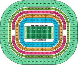 map of dome seating st louis rams seating chart at the edward jones dome