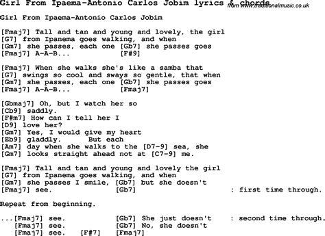 love songs girl love song lyrics for girl from ipaema antonio carlos jobim