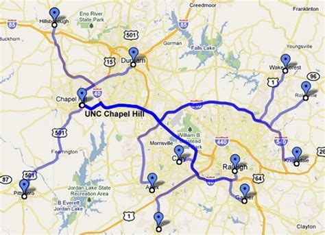 map of carolina chapel hill unc directions from the karambata