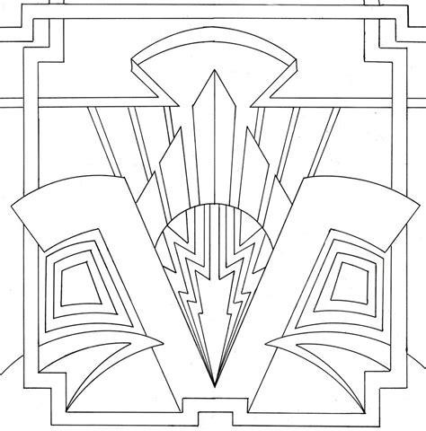 design art coloring pages ornamental art deco design by venomkold822 on deviantart