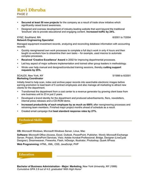 Social Media Specialist Resume by Social Media Specialist Page2 Marketing Resume Sles