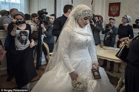 married by force chechens post instagram selfies in protest at pavel astakhov daily mail online