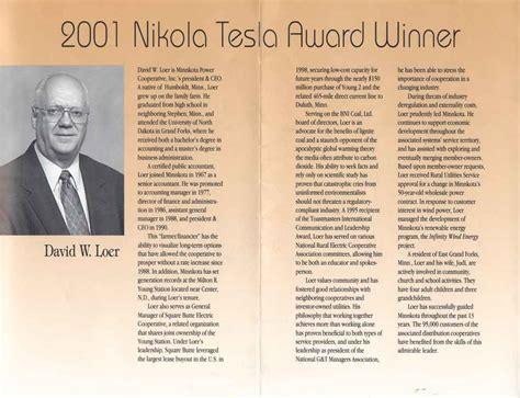 Nikola Tesla Awards Nikola Tesla Awards Tesla Image