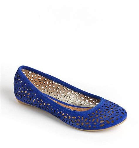 royal blue shoes flats kenneth cole reaction slipster suede ballet flats in blue