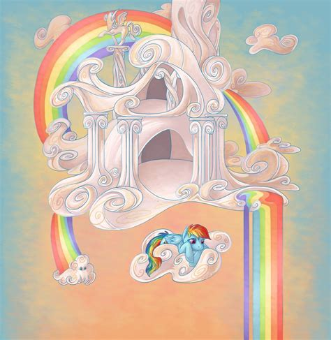 rainbow dash s cloud home by nikohl on deviantart