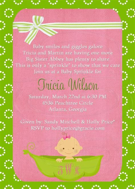 Sprinkle Baby Shower Invitations Wording by