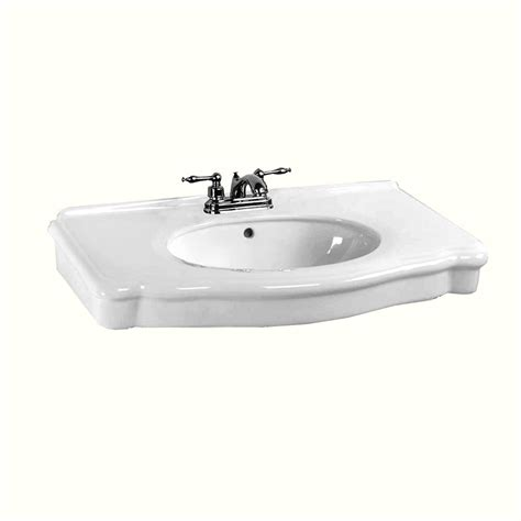 Sink Or Basin by White Bathroom Console Sink Basin Only 4 Quot Centerset