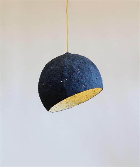 Paper Mache L Pluto L Pendant Light Hanging L Paper Pendant Light