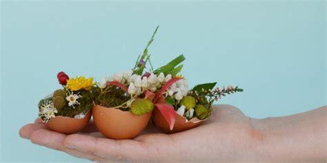 vasi per centrotavola centrotavola di pasqua mini vasi fioriti con gusci di