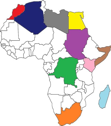 africa map sporcle africa blank map quiz clipart best