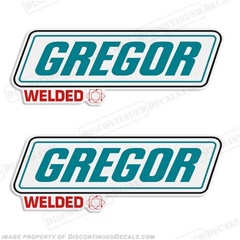 boat stickers gregor boat decals set of 2 style 2