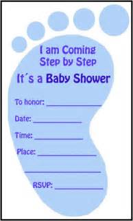 baby shower invitation for a boy templates baby shower footprint invitations01 boy worded baby