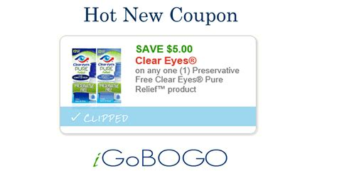 for eyes printable coupons high value clear eyes printable 5 1 clear eyes pure relief