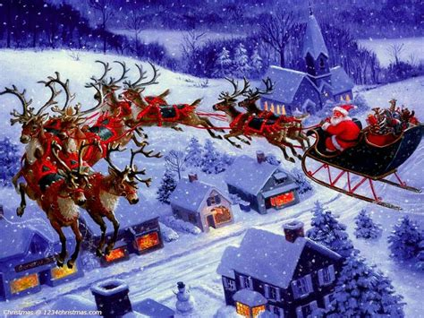 best art of santa and eight teindeer 46 best images about with santa claus and reindeer flying on reindeer