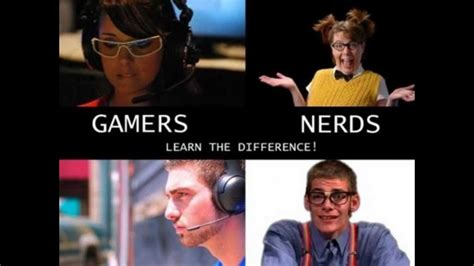 the difference between nerds and geeks stew the difference between a and a gamer