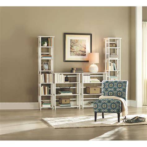 white folding bookcase home decorators collection white folding stacking open