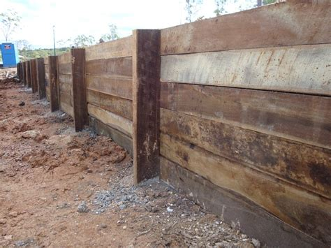 Treated Hardwood Sleepers by Australian Retaining Walls Timber Retaining Walls