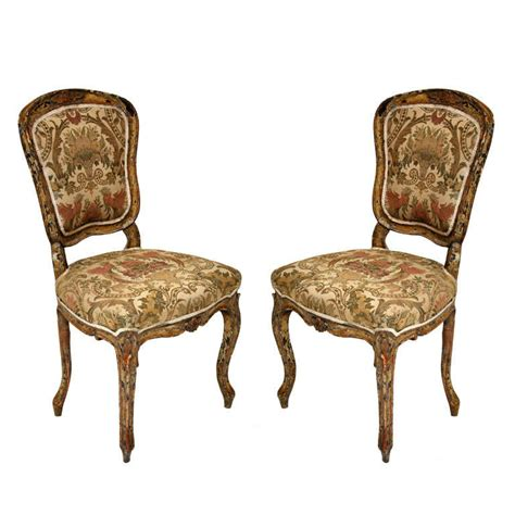 Louis Xv Furniture by Pair Of Rococo Painted Louis Xv Style Chairs At 1stdibs