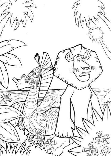 madagascar island coloring page madagascar coloring pages