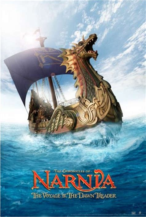 film narnia voyage of the dawn treader red movie poster the chronicles of narnia the voyage of