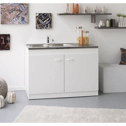 meuble sous evier 100 cm meuble sous 233 vier cosmos blanc l100 cm achat vente