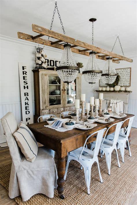 Simple amp neutral fall farmhouse dining room liz marie blog