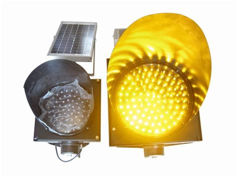200mm waterproof solar led traffic light durable yellow