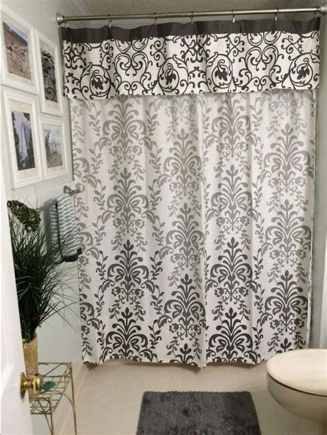 valance shower curtain no sew shower curtain valance in no time hometalk